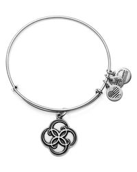 ALEX AND ANI | Metallic Breath Of Life Expandable Wire Bangle | Lyst