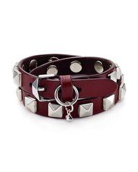 Rebecca Minkoff - Multicolor Leather Wrap Bracelet - Lyst