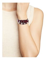 Rebecca Minkoff - Multicolor Leather Wrap Bracelet - Lyst