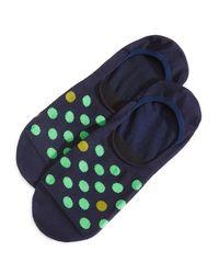 Paul Smith | Blue Neon Spot No Show Socks for Men | Lyst