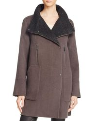 Elie Tahari | Brown Laura Wool Blend Coat | Lyst