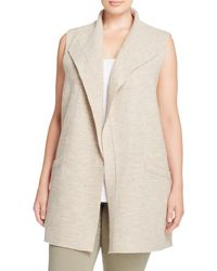 Eileen Fisher | Natural Exposed Seam Merino Wool Vest | Lyst