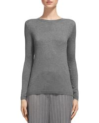 Whistles | Gray Sparkle Knit Sweater | Lyst
