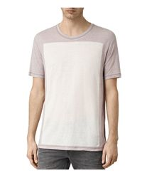 AllSaints - White Bric Graphic Crewneck Tee for Men - Lyst