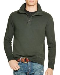 Polo Ralph Lauren | Green Cotton French Terry Pullover for Men | Lyst