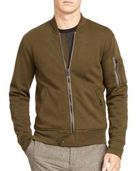 Polo Ralph Lauren | Green Double-knit Bomber Jacket for Men | Lyst