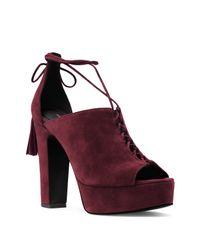 Michael Kors   Purple Collection Sylvan Suede Open Toe Lace Up Platform Sandals   Lyst
