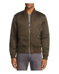 7 For All Mankind - Green Satin Bomber Jacket for Men - Lyst