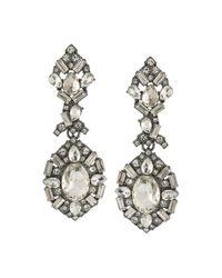 ABS By Allen Schwartz | Metallic Embellished Chandelier Earrings | Lyst