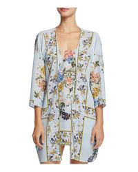 Flora Nikrooz - Blue Kayla Print Kimono Robe - Lyst