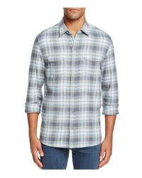 PAIGE | Blue Everett Plaid Flannel Slim Fit Button-down Shirt for Men | Lyst