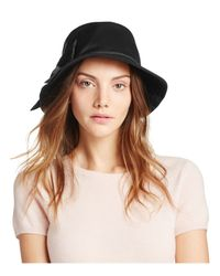 kate spade new york | Black Dorothy Bucket Hat With Bow | Lyst
