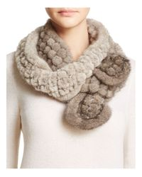 Maximilian - Multicolor Mink Fur Popcorn Knit Scarf - Bloomingdale's Exclusive - Lyst