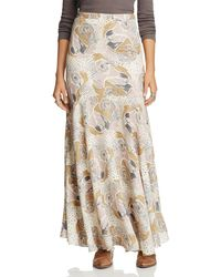 Free People | Multicolor Pebble Crepe Maxi Skirt | Lyst
