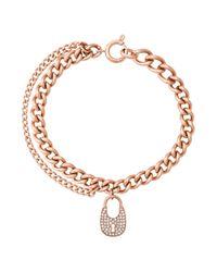 Michael Kors - Metallic Curb Chain Link Bracelet - Lyst
