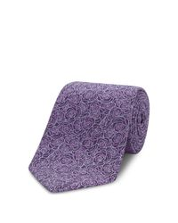 Turnbull & Asser | Purple Floral Classic Tie for Men | Lyst