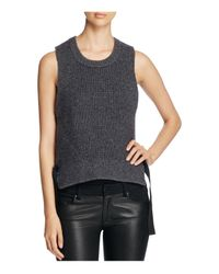 DKNY | Gray Pure Sleeveless Side Strap Sweater | Lyst
