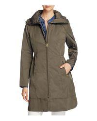 Cole Haan | Green Packable Rain Coat | Lyst