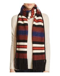 Tory Burch | Red Nova Jacquard Stripe Scarf | Lyst