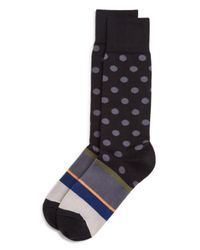 Paul Smith | Black Pocco Mixed Pattern Socks for Men | Lyst