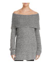 Aqua | Gray Off-the-shoulder Sweater - 100% Exclusive | Lyst