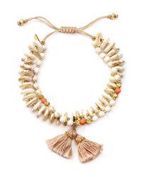 Chan Luu   White Beaded Tassel Bracelet   Lyst