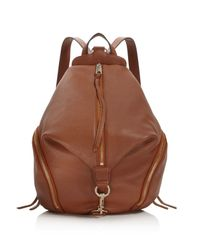 Rebecca Minkoff | Red Julian Leather Backpack | Lyst