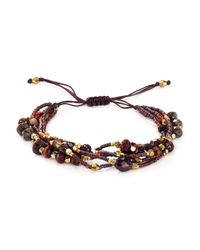 Chan Luu - Brown Garnet Multi Strand Beaded Bracelet - Lyst
