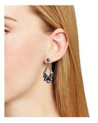 Sorrelli - Metallic Swarovski Crystal Open Drop Earrings - Lyst
