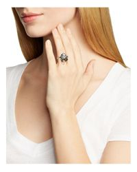 Sorrelli - Metallic Crystal Cocktail Ring - Lyst