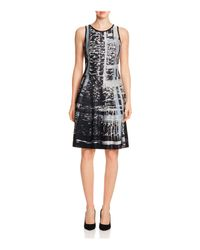NIC+ZOE | Black Printed Twirl Dress | Lyst
