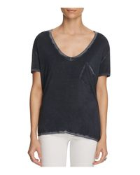 Free People | Black Rising Sun Distressed Tee | Lyst