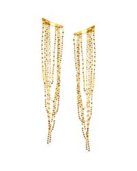 Lana Jewelry | Metallic 14k Yellow Gold Long Draping Earrings | Lyst