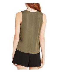 BCBGeneration - Green Graphic Muscle Tank - Lyst