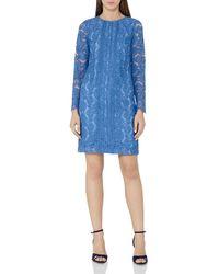 Reiss | Blue Suki Lace Shift Dress | Lyst