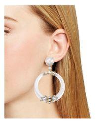 Alexis Bittar - Metallic Large Oval Pavé Wire Drop Earrings - Lyst