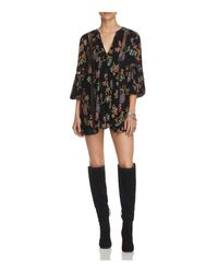 Free People | Black Just The Two Of Us Tunic Dress | Lyst