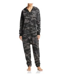 OnePiece | Gray Camouflage Jumpsuit | Lyst