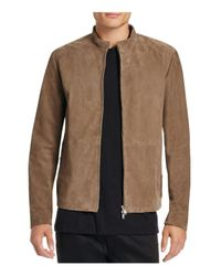 Theory | Brown Arvid Suede Jacket for Men | Lyst
