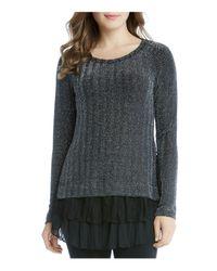 Karen Kane   Black Metallic Chevron Sweater   Lyst