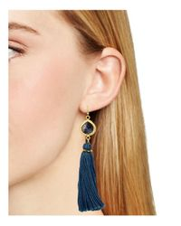 Chan Luu | Blue Tassel Drop Earrings | Lyst
