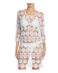 J Valdi | White Crochet Medallion Tunic Cover-up | Lyst