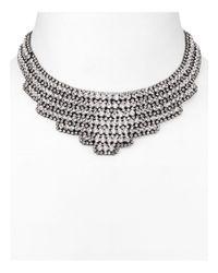 Aqua | Metallic Holly Statement Bib Necklace | Lyst