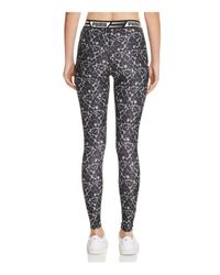PUMA - Black Printed Leggings - Lyst