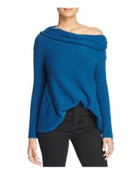 Free People - Blue Strawberry Fields Off-the-shoulder Sweater - Lyst