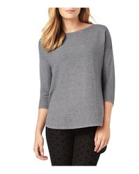 Phase Eight | Gray Megg Curved Hem Sweater | Lyst