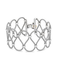 Alor | Gray Two Tone Looped Cable Bracelet | Lyst
