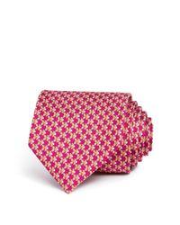 Ferragamo   Multicolor Carp Fish Abstract Print Classic Tie for Men   Lyst