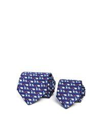 Ferragamo | Blue Father/son Zoo Animals Classic Tie Gift Box Set for Men | Lyst