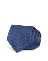 W.r.k. | Blue Textured Dot Classic Tie for Men | Lyst